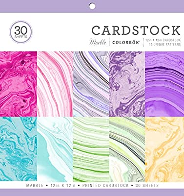 """Colorbok 71876B Cardstock Paper Pad Marble, 12"""" x 12"""""""