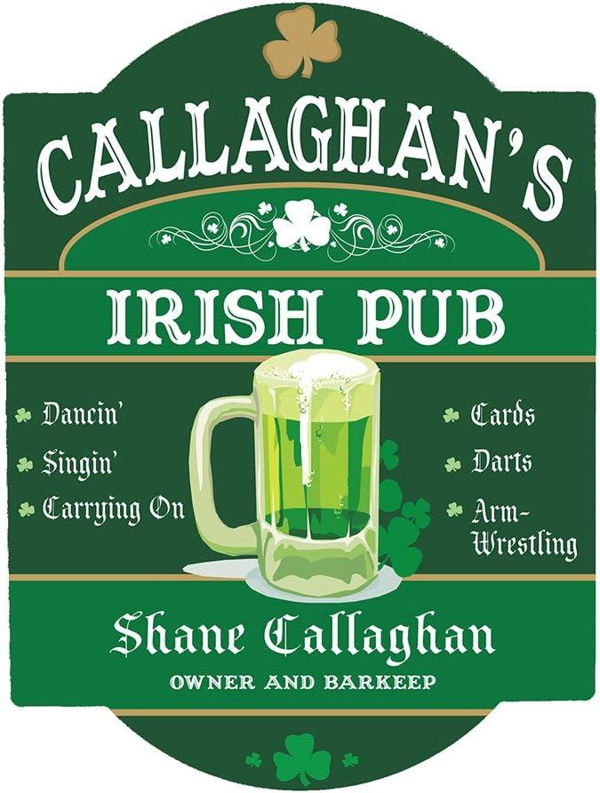 Giftsforyounow Personalized Irish Pub Sign 11 5 X 15 5 Home Kitchen Amazon Com