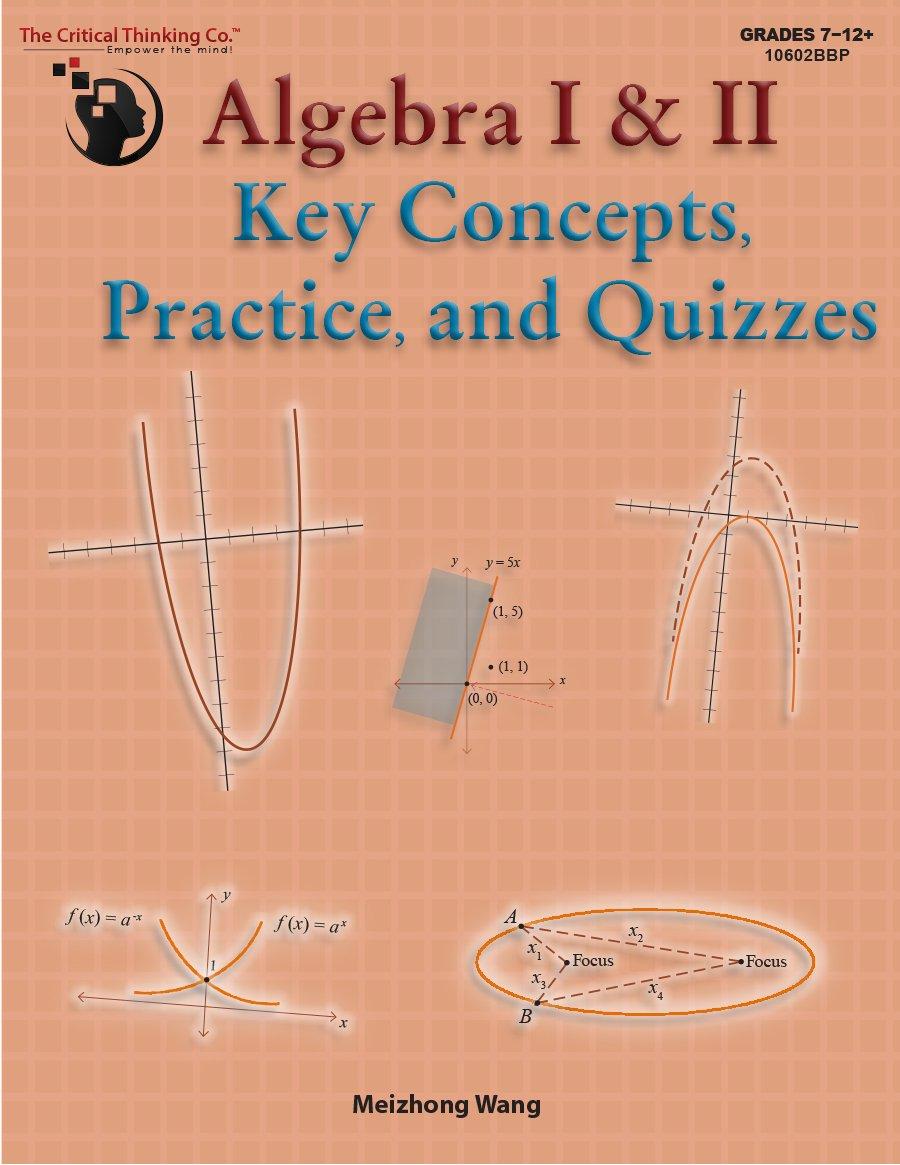 Algebra I & II Key Concepts, Practice, and Quizzes (Grades 7-12 ...