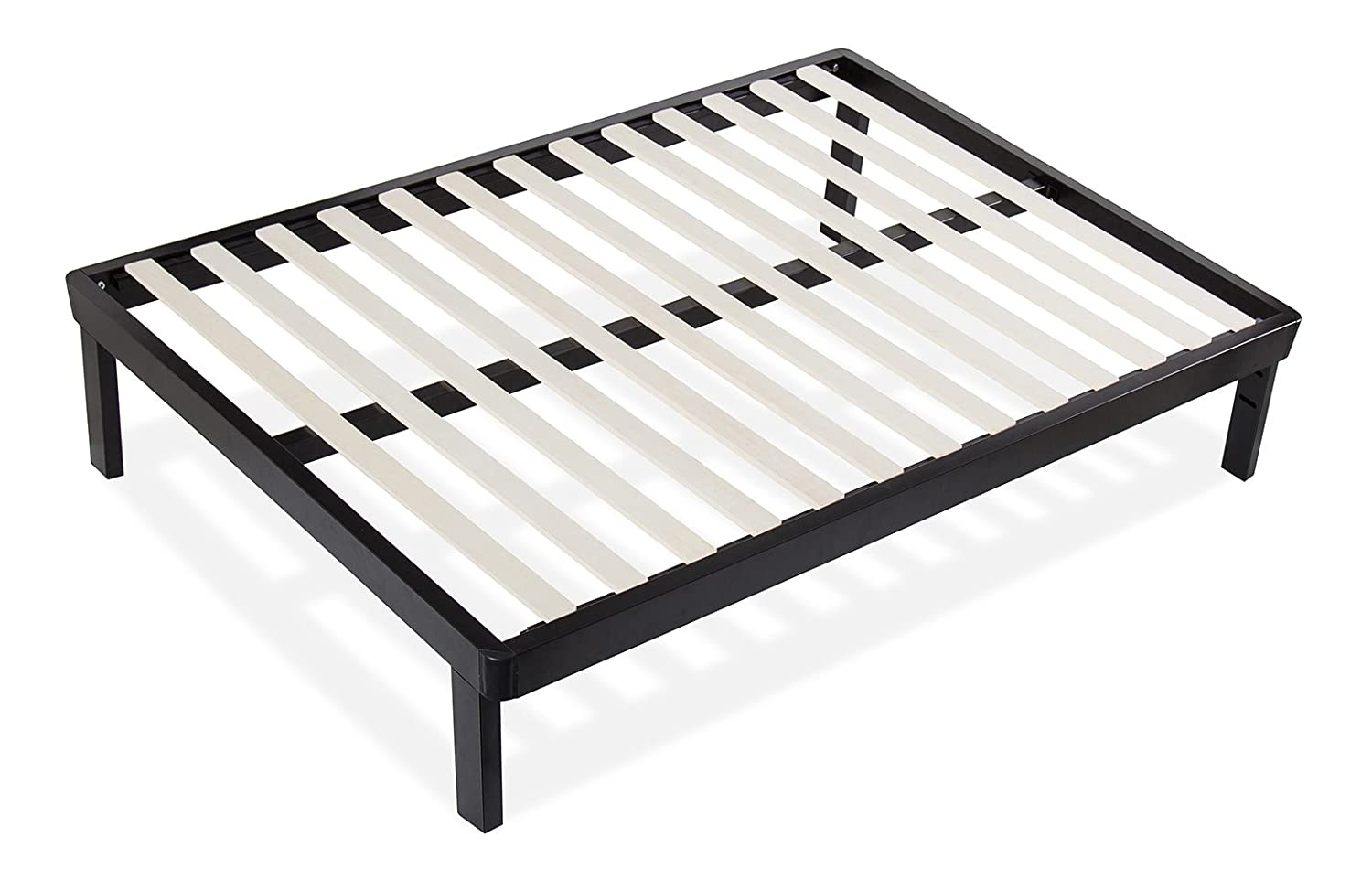 amazoncom sleeplace 14 inch dura metal wood slate bed frame 14bf03 twin kitchen dining - Slate Bed Frame