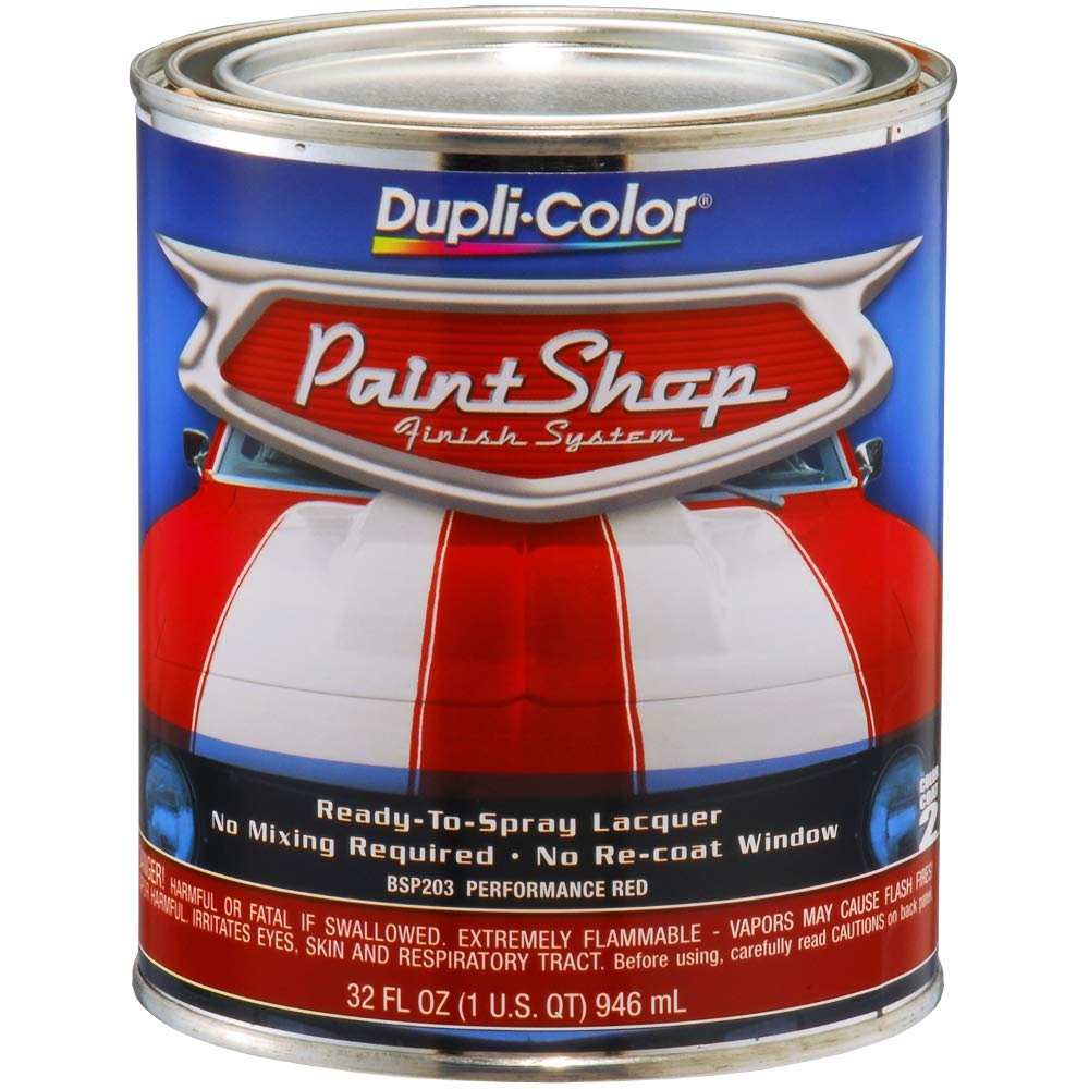 Dupli-Color (BSP203-2 PK 'Paint Shop' Performance Red Finish System Base Coat - 1 Quart, (Case of 2) by Dupli-Color (Image #1)