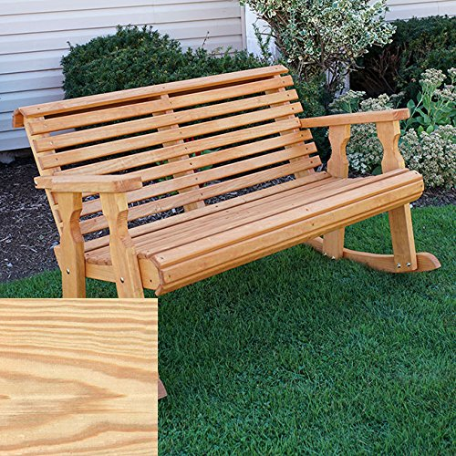 Back Double Rocker - CAF Amish Heavy Duty 800 Lb Roll Back Pressure Treated Double Rocker (Unfinished)