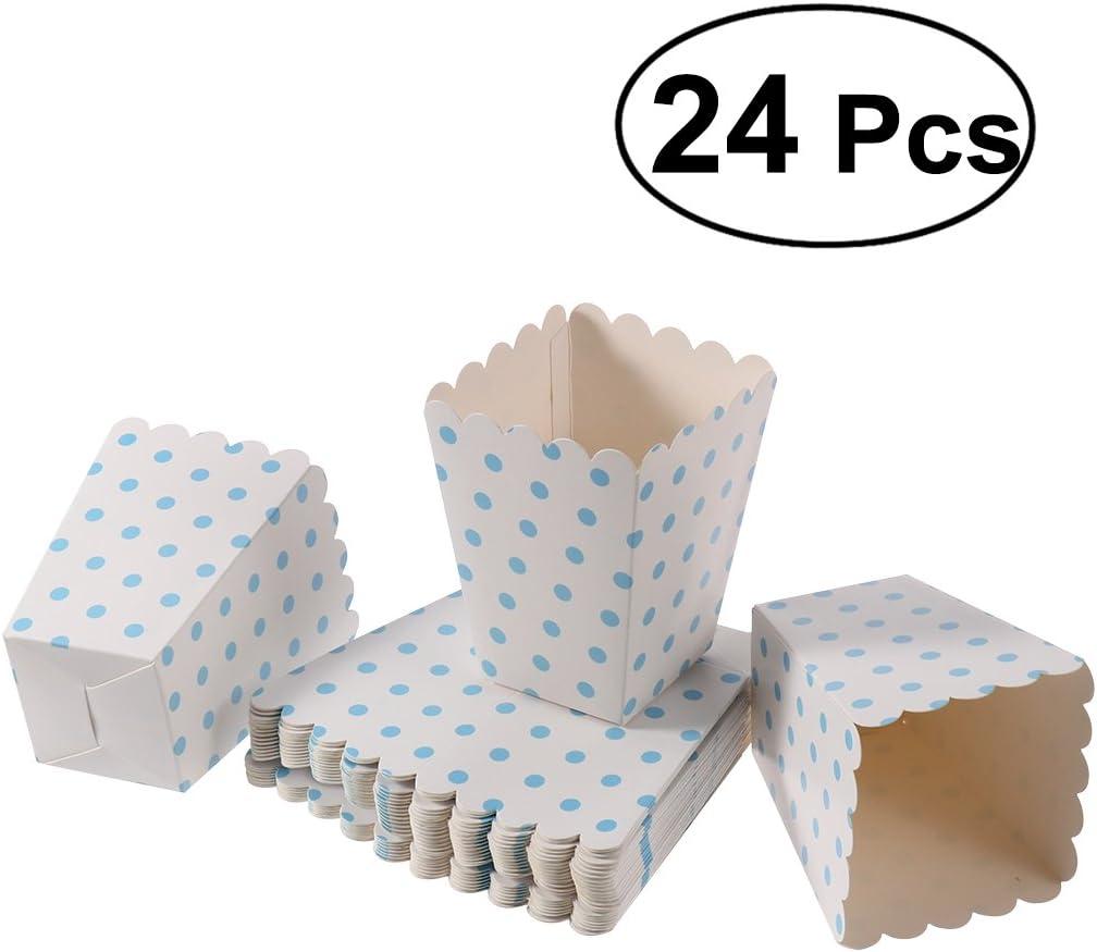 Toyvian Cajas de Las Palomitas 24pcs envases del sostenedor Cajas de Cartón para el Postre del Cine: Amazon.es: Juguetes y juegos