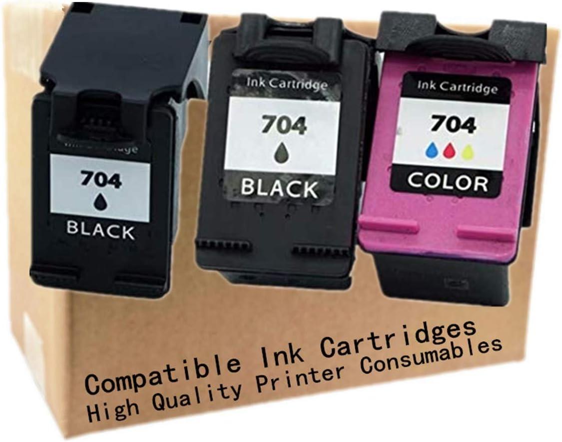 1 Black + 1 Tri-Color No-name Remanufactured Ink Cartridges Replacement Cartridge Black /& Tri-Color for HP 704 XL 704XL HP704 HP704XL Deskjet 2010 2060 D2060 D2010 K110A K010A Inkjet Printer