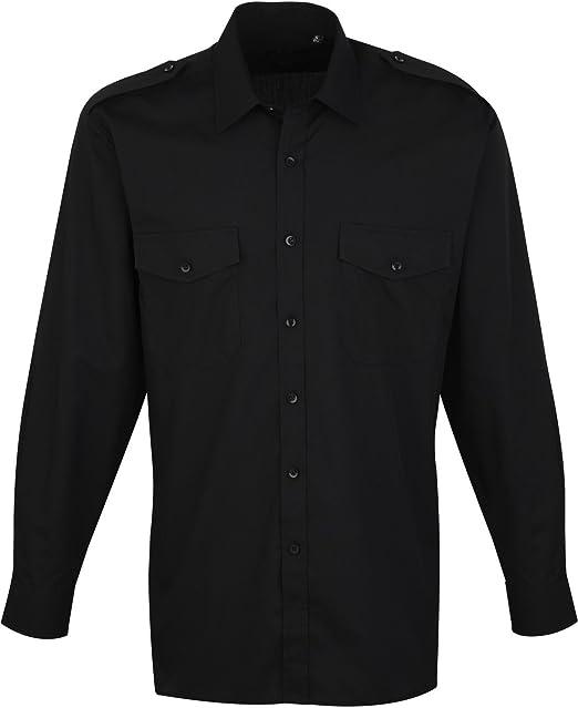 Premier Workwear Easy Care manga larga Security/piloto camisa con bolsillos en el pecho PR210: Amazon.es: Ropa y accesorios