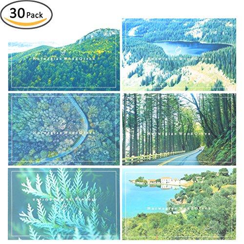 Rumcent Postcard Set Of 30 pcs, Norway, Size: 14.3 CM x 9.3 CM (5.6