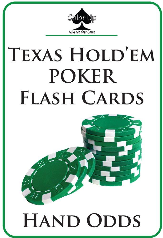 Texas Hold Em Poker Flash Cards Hand Odds Color Up 9780984731411 Amazon Com Books