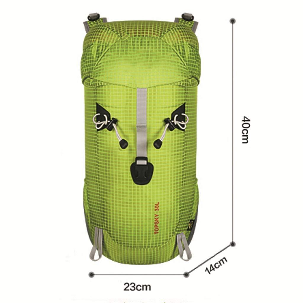 Kunden-äußerer Bergsteigen-Beutel 30L Faltbarer Leichter Wasserdichter Wasserdichter Wasserdichter Radfahrenrucksack (Frucht-Grün) B07H1HBCK1 Trekkingruckscke Förderung 6f134f