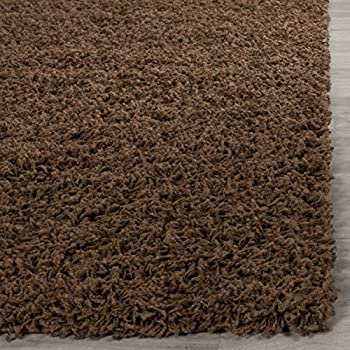 Safavieh Athens Shag Collection SGA119A Brown Area Rug (3 x 5)
