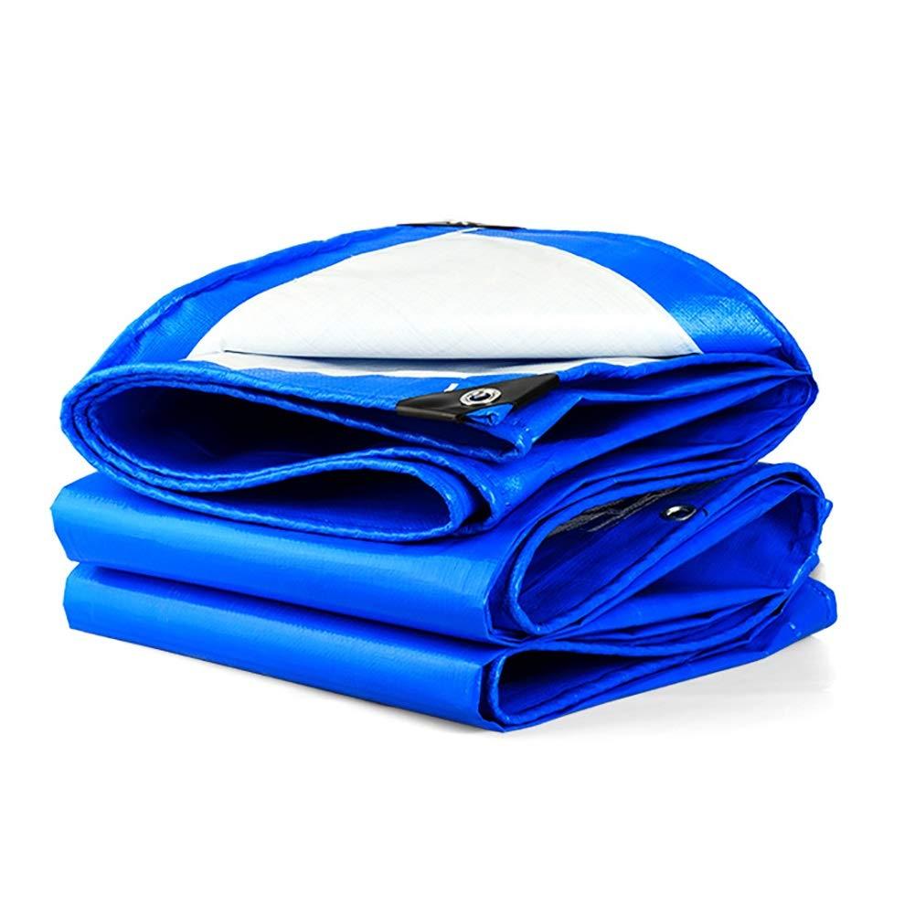 L-BHQF Couvertures de bÂche de Sol de bÂche de bÂche de bÂche résistantes d'épaississement extérieures imperméables pour Camion - Bleu, 160G   M (Taille   5x5m)  5x5m