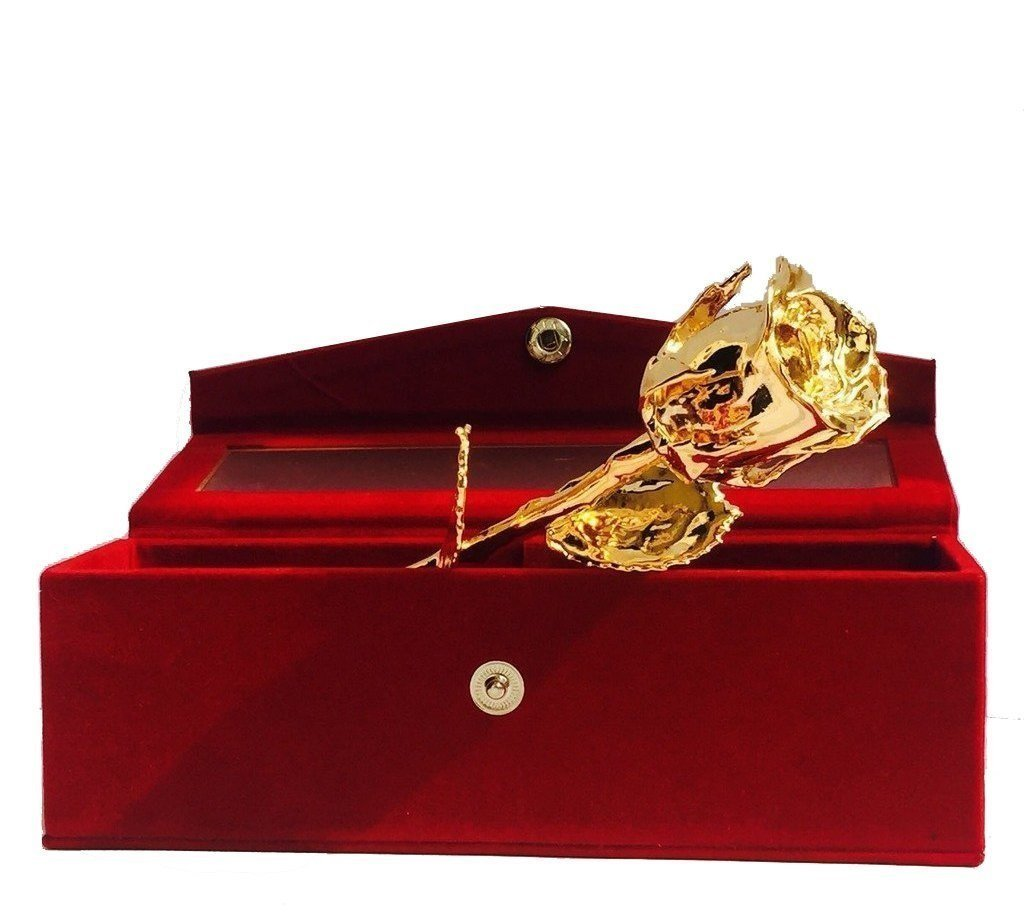 Unique gifts for wife amazon parth impex premium 24k gold dipped rose in beautiful velvet gift box best unique gift husband negle Gallery