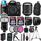 Holiday Saving Bundle for D7200 DSLR Camera + 18-105mm VR Lens + Flash with LCD Display + Backpack + 2 Of 32GB Card + 1yr Extended Warranty + 0.43X Wide Angle Lens - International Version