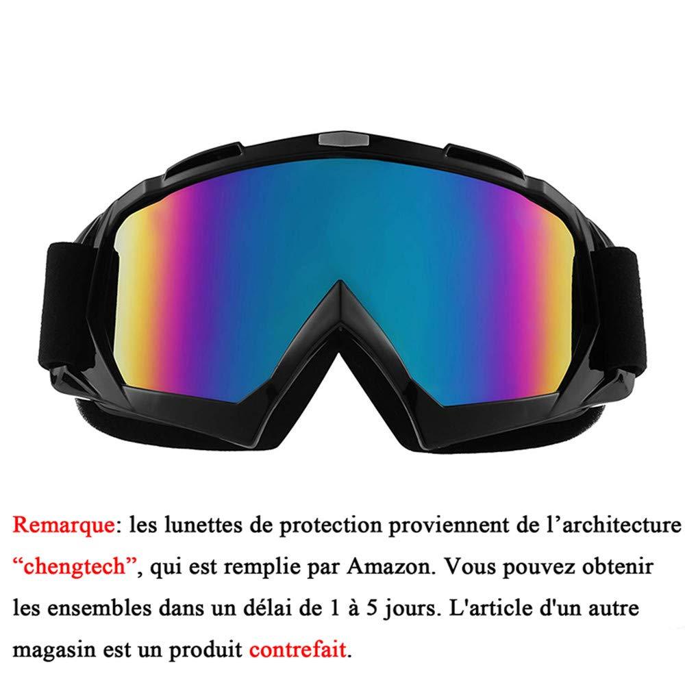 b5a9f894e1683 Sijueam Lunettes de Protection de Yeux Visage Masque pour Sport de Plein  air Anti-UV