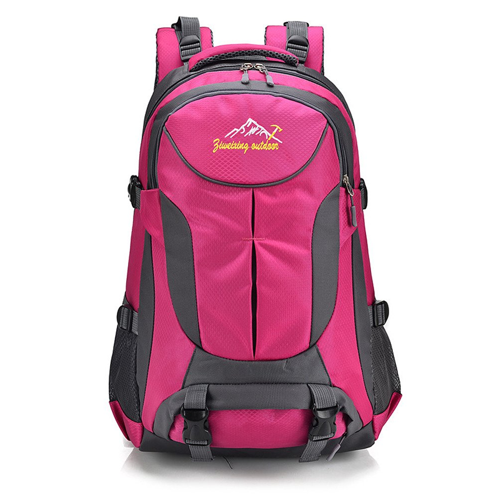 Rosy Hiking Bag Heavy Mountaineering Backpack Camping Travel Sports MultiFunction Backpack Large Capacity Mountaineering Bag (color   Black)