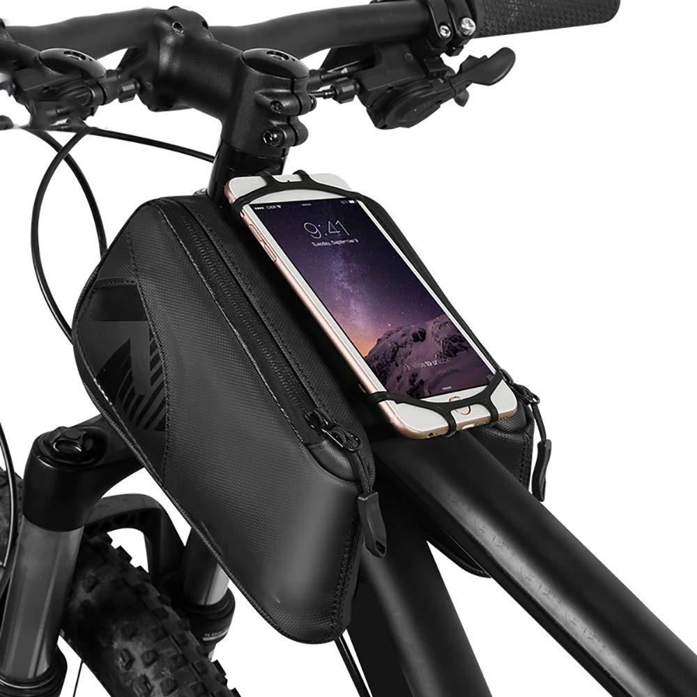 Bicycle Bag On The Tube Bag Mountain Bike Bag Waterproof Riding Saddle Bag Mobile Phone Bag