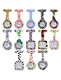 Set of 13pcs Brooches / Fob / Pocket Nurses Watches In Infections Control Silicone Hygienic Covers