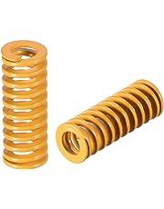 uxcell® 8mm OD 20mm Long Spiral Stamping Light Load Compression Mould Die Spring 10Pcs