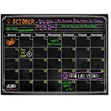 Bigtime Black Dry Erase Monthly Planner Wall Calendar Decal   ChalkBoard Design   Use w / Fluorescent Neon or Liquid Chalk Markers   Bubble - Free Adhesive   16 x 24 Laminated Decal by Bigtime Designs