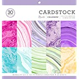 "ColorBok 71876B Cardstock Paper Pad Marble, 12"" x 12"""