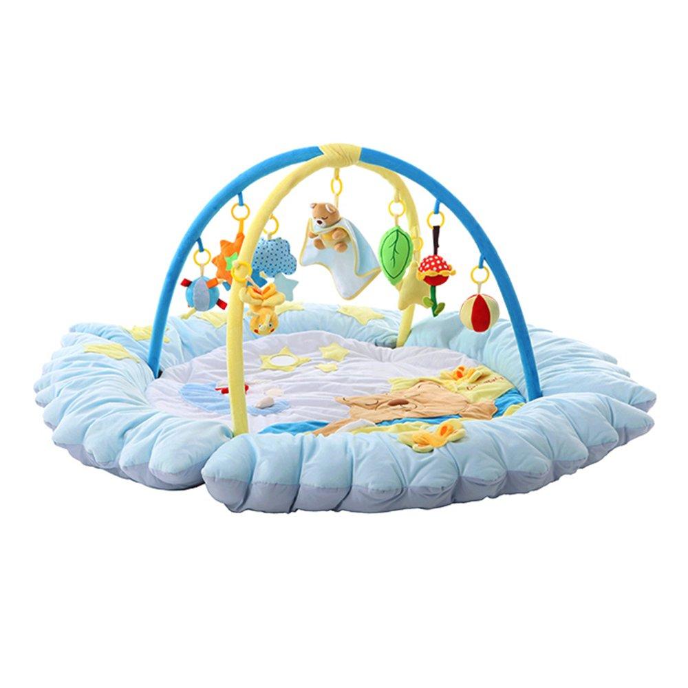 para proporcionarle una compra en línea agradable Azul Blanket Flash- Material de Tela Suave Suave Suave Algodón de Relleno Juego de música para bebé Manta de Arrastre Baby Puzzle Fitness Rack (diámetro 140cm, Altura 60cm, diámetro Interior 90cm) (Color   Azul)  Garantía 100% de ajuste