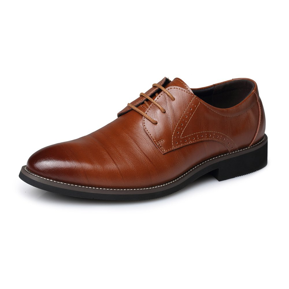 MXL Herren PU Leder Schuhe Klassische Lace Up Müßiggänger Niedrige Top Gefüttert Formale Business Oxfords Mode Slipper  | Lebhaft