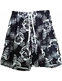c2760a63dc Black Solid Hibiscus Tugger Above Knee 20.5