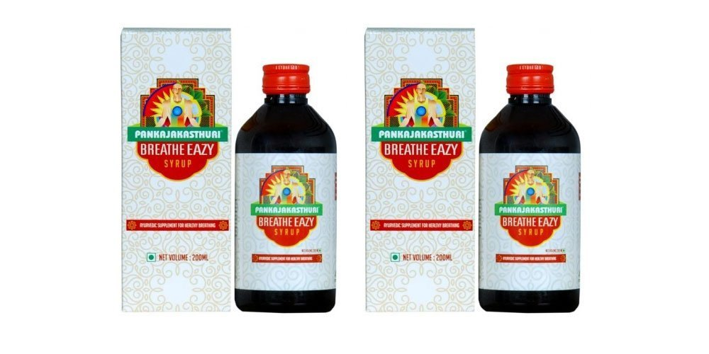 Breathe Eazy Syrup by Pankajakasthuri Herbals - 200ml Pack of 2 by Pankajakasthuri Herbals