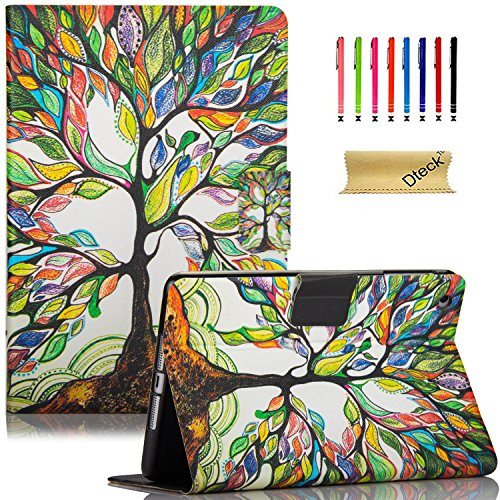 iPad Mini Case, Mini 2/3 Case, Dteck Slim Fit Colorful PU Leather Folio Stand Cover with Auto Wake/Sleep Function Smart Case for Apple iPad Mini 1/2/3 7.9 inch Tablet, Love Tree