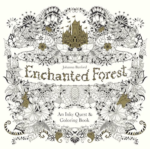Enchanted Forest: An Inky Quest And Coloring Book (Turtleback School & Library Binding Edition) (Inky Quest)