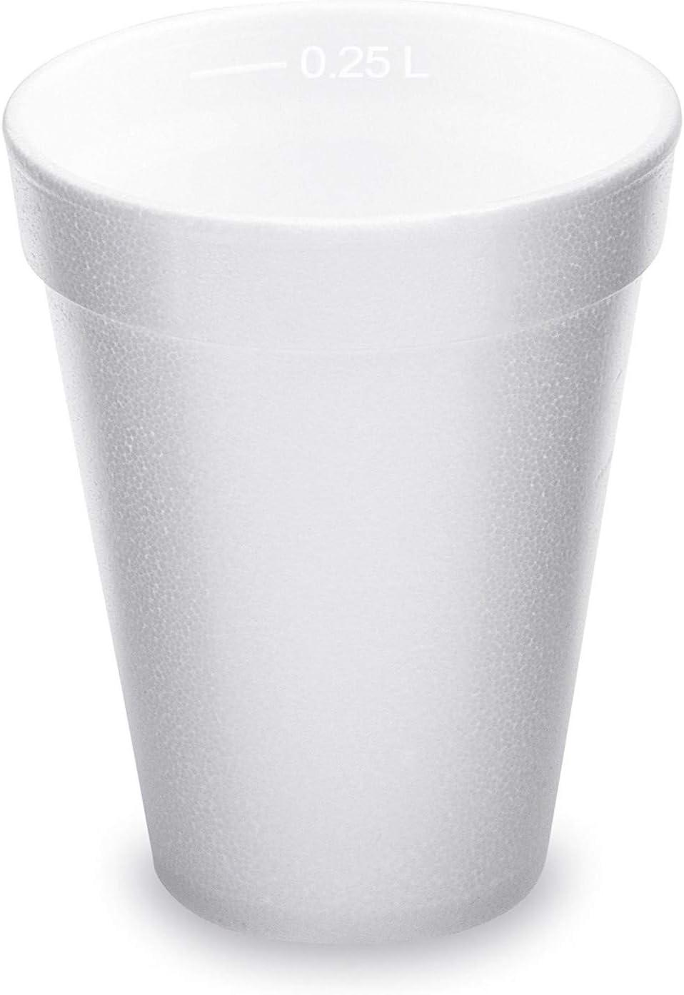 mercado de Navidad blanco Juego de vasos t/érmicos de poliestireno EPS 250 ml 80 oz para vino caliente punsch t/é 60 unidades
