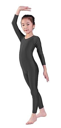 05fe5177b17a Amazon.com  Kepblom Girls Scoop Neck Long Sleeve Unitard Bodysuit ...