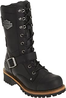 Harley-Davidson Women's Performance Albara BLK Leather Motorcycle Boots. D87066