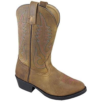 Smoky Mountain Annie Western Boot Round Toe, Brown, 3.5 M US Big Kid | Western