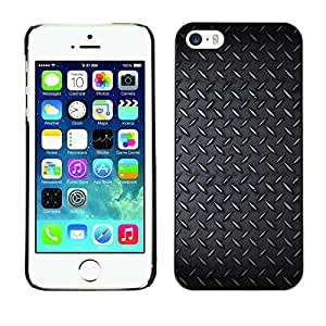 Be-Star Único Patrón Plástico Duro Fundas Cover Cubre Hard Case Cover Para Apple iPhone 5 / iPhone 5S ( Diamont Plated Steel Grunge Pattern )
