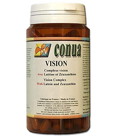 Complemento alimenticio complejo ojos Vision luteína zeaxantina 120 cápsulas vegetal más blueberry (arándano) redcurrant