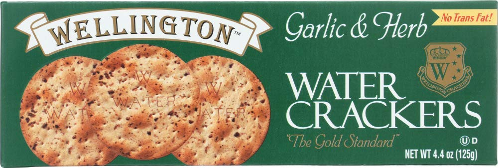 Wellington Garlic & Herb Water Crackers, 4.4-Ounces (Pack of 12)