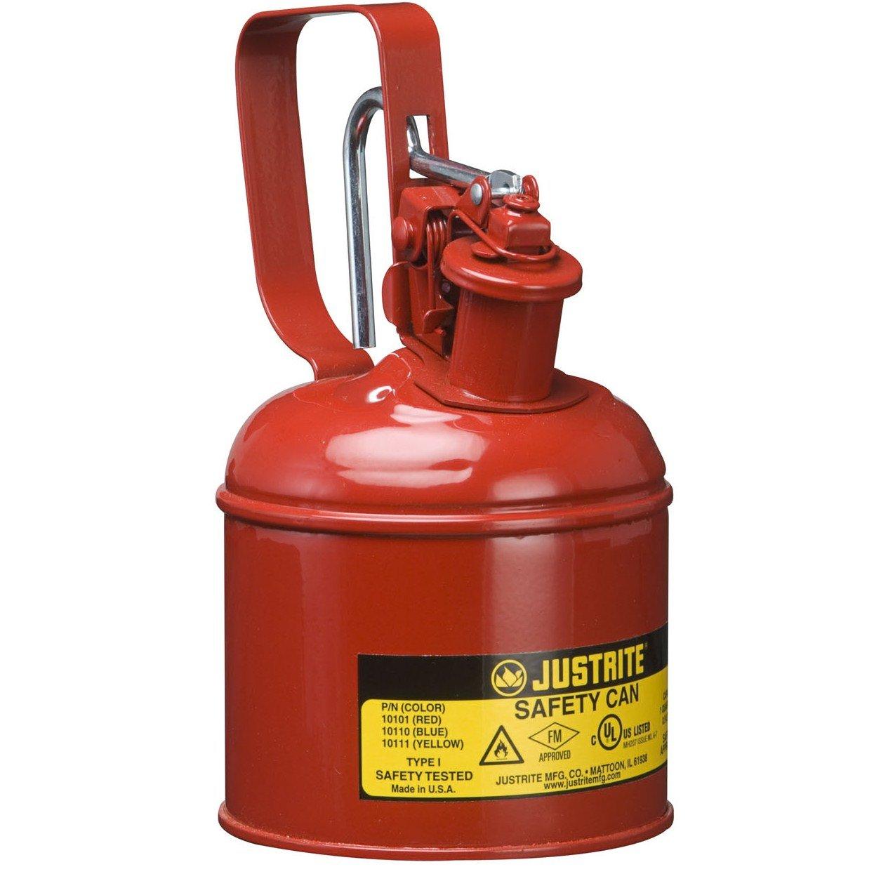 Justrite 1Liter Typ 1Stahl rot Sicherheit kann 10101z