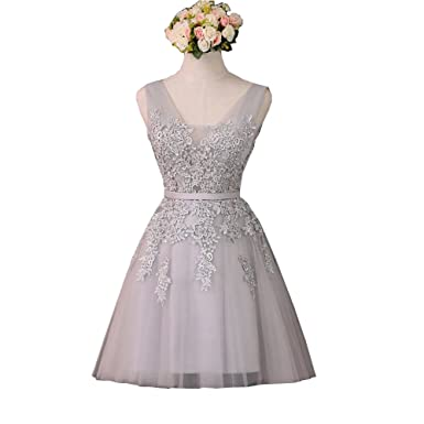a400a2c093b Image Unavailable. Image not available for. Color  QiJunGe Short Prom  Homecoming Dresses Beaded Formal Gowns with Lace Up Back