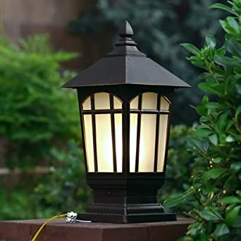 European Garden Dico Post Faros Luces de pared para exteriores ...