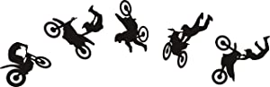 Cool Motocross Wall Sticker for Home Decor Decals Motocross Graphic Extreme Sport Motorcycle Silhouette Removable Wall Art DIY Vinyl