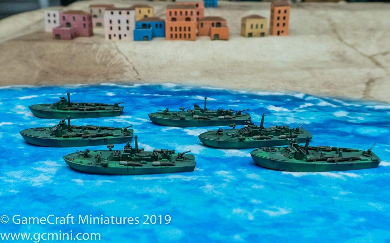 Cruel Seas US Navy PT Boat Flotilla 1:300 WWII Naval Military Wargaming Plastic Model Kit