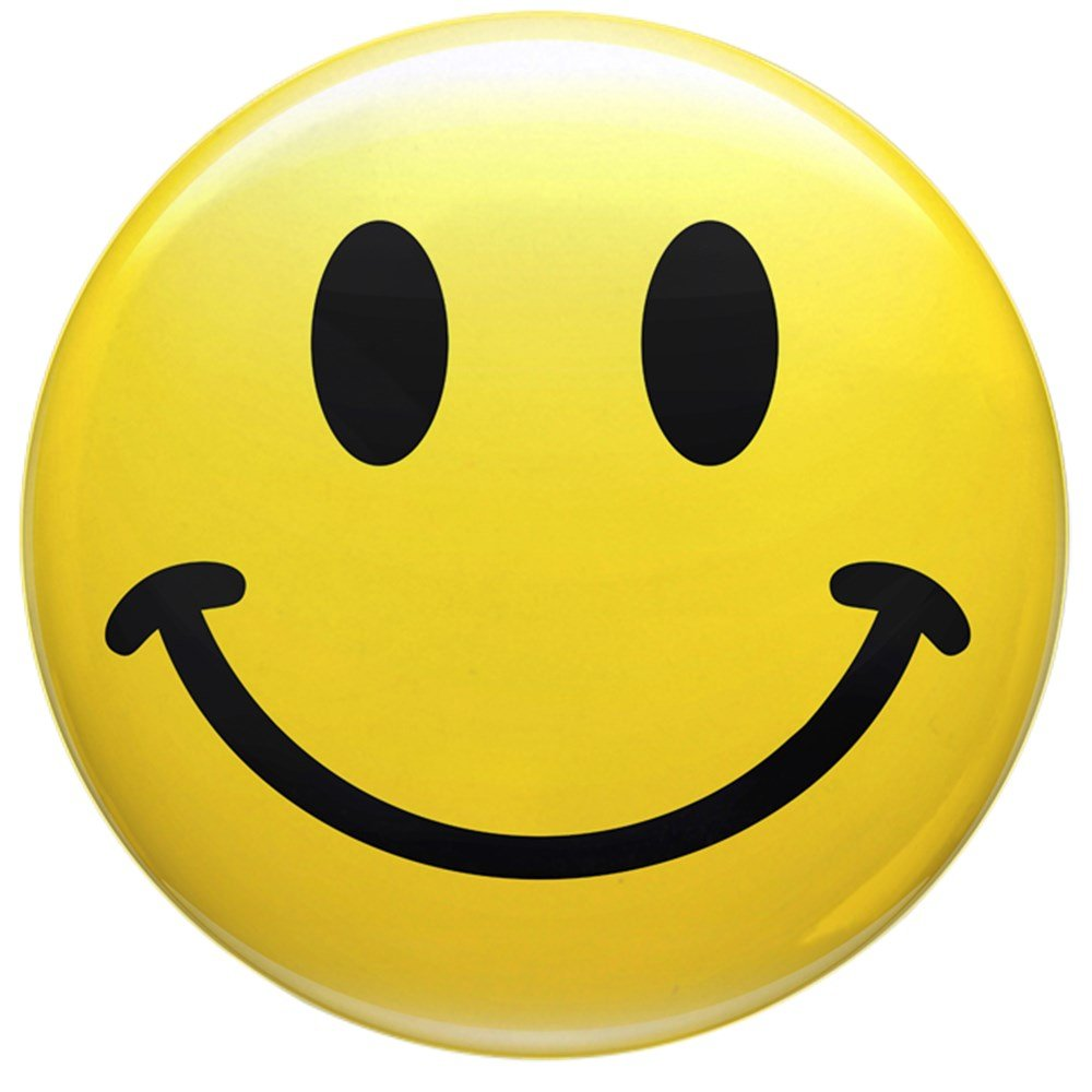 2.25 Inch Button Smiley Face HD Royal Lion 225IBSMILEFACHD-2017SEP