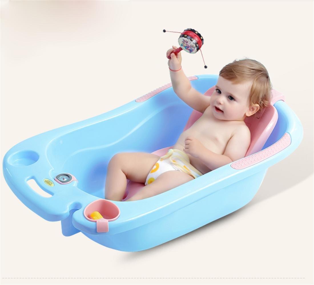 MYMGG Kinder Badewanne Babywanne Kann Unten Universal Baby Lieferungen Kinder Badewanne Große Kinder für 0-6 Jahre Alt Baby Umweltschutz PP-Kunststoff-Sicherheit ungiftig sitzen