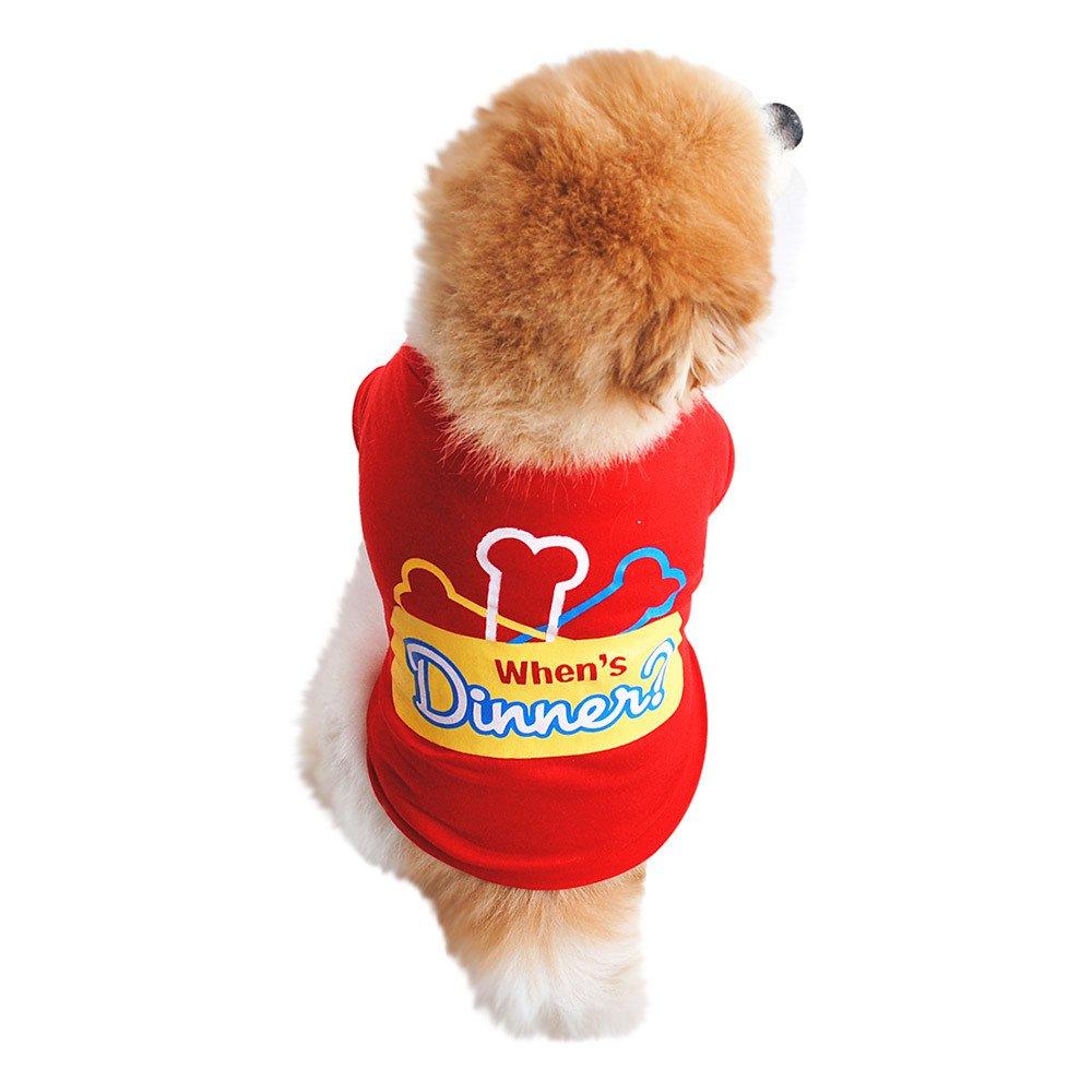 Xmiral Camicia Estiva in Cotone per Cani e Gatti Rosso S
