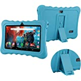 Tablet Case for 7 inch, Anti-Slip Soft Silicone Back Cover Case, Protective Thick Silicone, Shock Proof, Adjustable Back Clip
