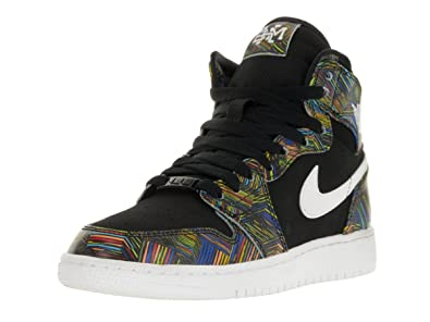 newest c0688 772c8 Nike Air Jordan 1 Retro High BHM GG Hi Top Trainers 739640 ...