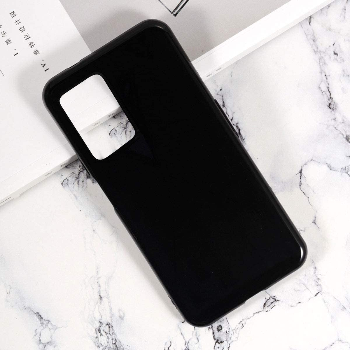 Tempered Film Glass Screen Protector LJSM Case for Cubot X30 + Black Silicone Soft TPU Cover Shell for Cubot X30 3 Pieces 6.4