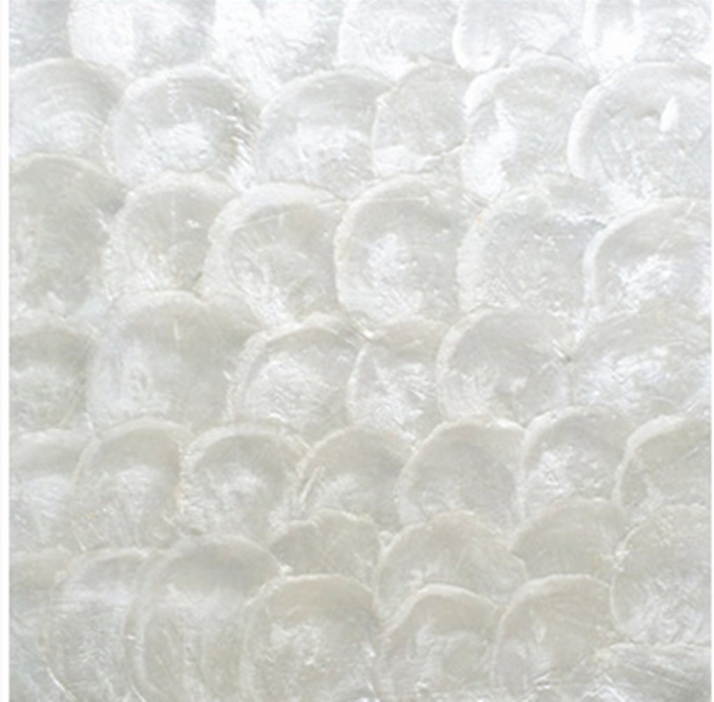 AFSJ Genuine Mother of Pearl Capiz Tile For Bathroom/Kitchen/Spa Backsplash Pack of 5 Sheets