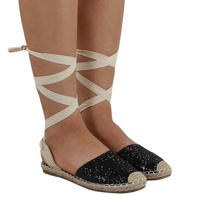 3687584f40f Sandalias Mujer Verano 2019 Planas ❤ Absolute Zapatos de Lentejuelas  Ocasionales de Mujer Sandalias Planas