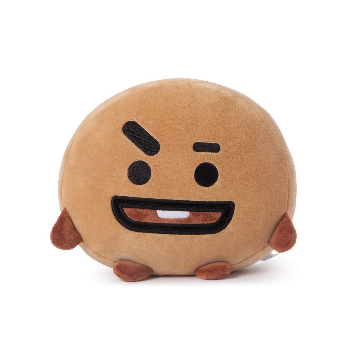 LINE FRIENDS BT21 Official Merchandise SHOOKY Mini Cushion Stuffed Pillow, Beige